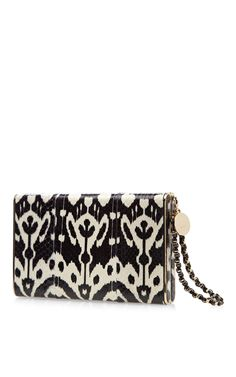 Brian Atwood Metal Frame Snakeskin Clutch in Multicolor (Multi)   Lyst