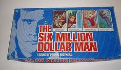 Vintage Six Million Dollar Man Board Game