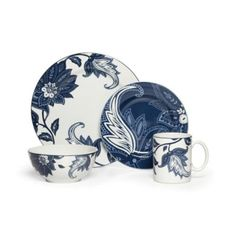 Buy Nautica® Tisbury 4-Piece Place Setting in Navy from Bed Bath & Beyond