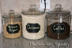 Must do this for kitchen (well, maybe not the coffee one but definite something like this for all of my baking stuff.