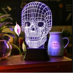 3D Illusion Skull Lamp