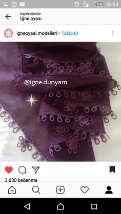 This post was discovered by Ke Filet Crochet, Crochet Unique, Needle Lace, Baby Knitting Patterns, Alexander Mcqueen Scarf, Tatting, Beautiful, Lace, Sewing Needles