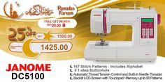 Janome DC5100 #ramadan #kareem #discount #sale #sewing #machine #janome #stitch #fashion #online #mall