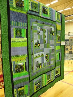 My inspiration to make Hezekiah a John Deere Quilt for his Birthday (uhm...I have 3 months :)