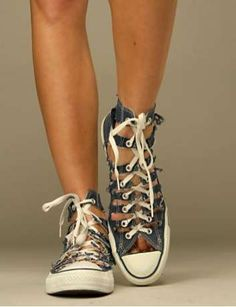 Gladiator Sneakers by Converse & Free People: Looks like DIY to me.