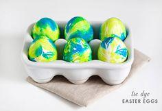 Tie-dye eggs.
