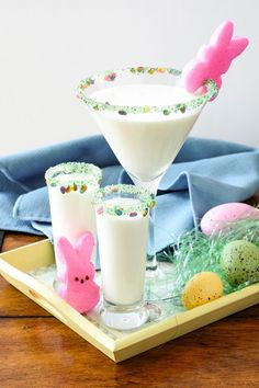 Dell Cove Spice Co Easter themed party cocktail rim sugar