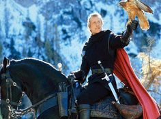 This could be Byron, dressing for The Knight and the Damsel in Distress  Ladyhawke - gorgeous medieval costumes