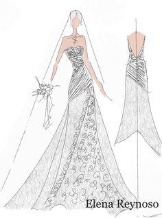 Elena Reynoso • Diseños de ensueño • Inspiraciones #ElenaReynoso #Fashion #style #weddingdress