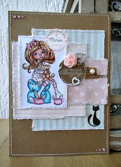 My weekly posting for the Sugar Nellie blog, I used a lovely stamp from the Simply Sassy range http://www.funkykits.co.uk/catalog/product_info.php?products_id=1515