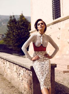 Zo Nowak goes on a glamorous getaway to Trento, Italy, for the Summer 2016 issue of FASHION Magazine. While there, the model poses for Chris Nicholls in looks from mostly Italian fashion brands