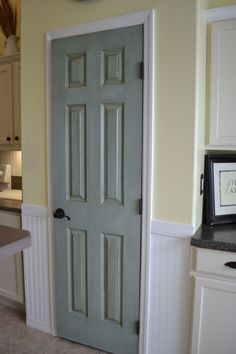 Well its true, her new place in SF did need this distressed kitchen pantry door. Now shes happy!