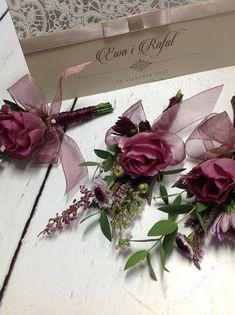 6 Szpilek # wesele #wedding #marsala #butonierka