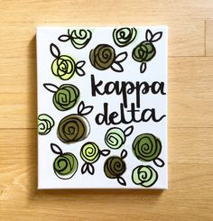 Sorority canvas custom sorority by HouseOneEleven on Etsy