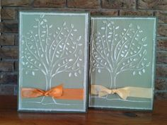 Embossed Leafy tree by Sarah B - Cards and Paper Crafts at Splitcoaststampers