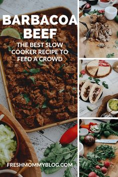 Easy Weeknight Crockpot Meals: Slow Cooker Barbacoa Beef Tacos. Click through for the best slow cooker Barbacoa Beef recipe! This tender beef sirloin is one of our top easy weeknight crockpot meals youll want to try. I made on the slow cook setting of the instant pot and made for the best tacos for family night! Serve a party with this taco platter.