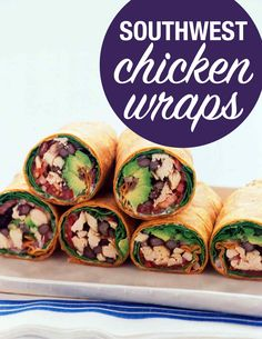 Southwest Chicken Wraps | Martha Stewart Living - You don't have to cook anything to make this sandwich -- pick up a rotisserie chicken, or substitute leftover Thanksgiving turkey.