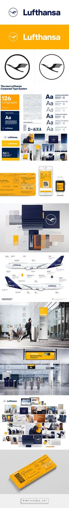 Brand New: New Logo, Identity, and Livery for Lufthansa done In-house in Collaboration with Martin et Karczinski - created via https://pinthemall.net
