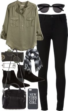Outfit for shopping with friends by ferned featuring women plus size topsH M women plus size top, 26 AUD / J Brand jeans / MANGO bootie boots, 105 AUD / Alexander wang bag, 1 095 AUD / Topshop ring, 25 AUD / Ray-Ban sunglasses, 235 AUD / H M scarve, 19 AUD / Apple iphone case, 9.63 AUD / Saint Laurent Classic 83/F Sunglasses In Black Acetate And Silver…, 545 AUD