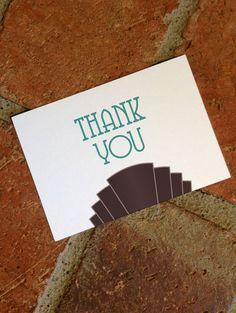 DIY Printable Thank You Card Art Deco Wedding by FiraPrintables