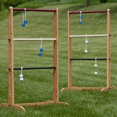 My papa is making wooden ladderball stands that I can paint in our colors for our garden party wedding rehearsal...