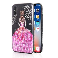 Bakeey 3D Painting Protective Case For iPhone X/8/8 Plus/7/7 Plus/6s Plus/6 Plus/6s/6 Pink Dress Gl