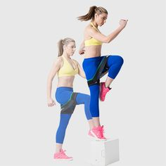 Standing on left leg, place right foot up on small box or step. Step up onto the box and drive left knee up toward chest, abs tight. Do 30 seconds on each side. Repeat for duration of 1 minute and 30 seconds. Glutes, Quads, and Calves via @stylelist | http://aol.it/1opPNqI