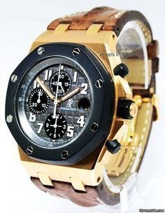 Audemars Piguet Royal Oak Offshore 18k Rose Gold Mens Watch Box/Papers 25940OK