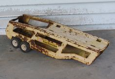 Tonka Car Carrier 1970s Pressed Steel Rusty by 13thStreetEmporium, $12.00