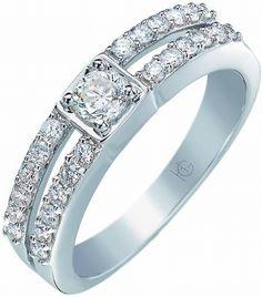 Alliance or blanc et diamants Gringoire