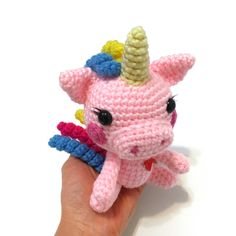 Excited to share the latest addition to my #etsy shop: Amigurumi Unicorn Pig Plush Amigurumi Pig Doll Crochet Unicorn Plush Crochet Piggy Toy Kawaii Piggy Nursery Decor Birthday Valentine Gift