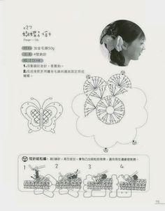 Patrones Crochet: Pasador Mariposa para el Pelo Crochet