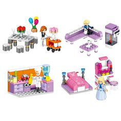 Toys & Hobbies Lepin 25013 Princess Girl Series Ariels Royal Celebration Boat Compatible With Lego Blocks Friends Castle Assembly House Puzzl Doll Houses