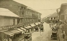 Along Escolta; principal business street in New Manila, Philippines, before 1900 Philippine Architecture, Filipino Culture, American War, Interesting History, Vintage Photographs, Old Photos, Philippines, Spanish, Street View