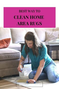 Discover the best ways to clean area rugs. These DIY cleaning hacks and deep clean techniques work with shag and berber, and remove urine smell. #homevialbe #deepclean #carpetcleaners #arearugs Cleaning Area Rugs, Cleaning Diy, Deep Cleaning, All Natural Cleaning Products, Diy Cleaning Products, Cleaning Solutions, Natural Carpet Cleaners, Diy Carpet Cleaner, Best Cleaner