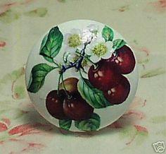Kitchen Cherries Drawer Door Cabinet Knobs Fruit Knob | eBay