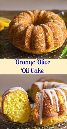 Orange Olive Oil Cake, a moist Italian #Cake made with fresh #oranges, #olive oil and #greek yogurt.  A simple orange glaze makes it perfect.   via @https://it.pinterest.com/Italianinkitchn/