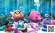 Animal Crossing - Happy Home Designer  Marina's home! It's an aquarium!