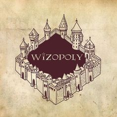 Wizopoly: Harry Potter-Inspired Monopoly Box von FlotographyDesign Withopoly: Monopoly Box von Flotography Design inspired by Harry Potter Harry Potter Monopoly, Harry Potter Journal, Harry Potter Games, Monopoly Game, Monopole Harry Potter, Hogwarts, Bff Gifts, Wooden Art, Tag Art