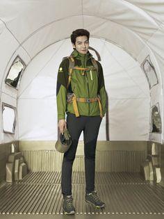 Kim Woo Bin's latest photo shoot for outdoor brand Merrell