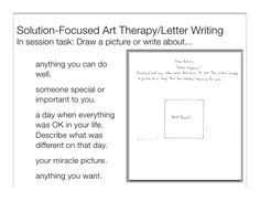 solution focused brief therapy worksheets - Google Search
