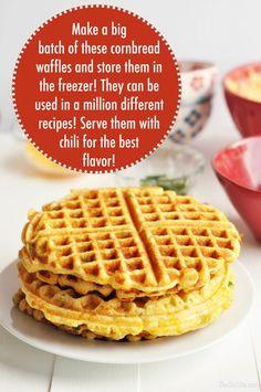 Cornmeal Waffles, Cornmeal Recipes, Savory Waffles, Keto Pancakes, Bread Recipes, Waffle Maker Recipes, Foods With Iron, Good Food, Pasta