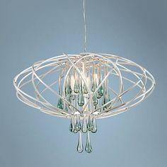"Varaluz Area 51 24"" Wide Pearl 5-LED Pendant Light - #7W954 | Lamps Plus"
