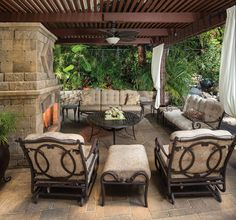 The expansive outdoor living room is the focal point of family entertaining