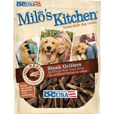 (Paleo Diet Results) Milo's Kitchen Steak Grillers Beef Recipe with Angus Steak Dog Treats, 18-Ounce #Paleo #Dinners
