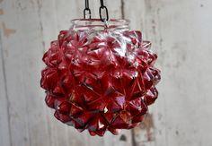 Glass candle holder hanging mason jar lantern alternative | Etsy