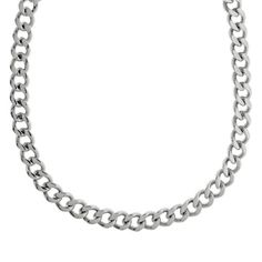 Men's Stainless Steel Curb Chain Necklace,22'': Jewelry: Amazon.com
