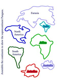 Seven Continents Map Elementary Printable Continents Map Puzzle - Continents map outline