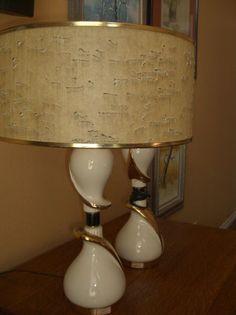 pair of 1950's lamps