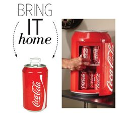"""""""Bring It Home: Coca-Cola Mini Can Cooler"""" by polyvore-editorial ❤ liked on Polyvore featuring interior, interiors, interior design, home, home decor, interior decorating, Koolatron and bringithome"""